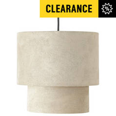 Results for lampshade argos home 2 tier suede ceiling shade natural aloadofball Images