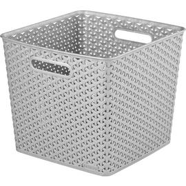 Curver Set of 3 Square Rattan My Style Storage Boxes - Grey