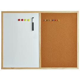 Cathedral 2 in 1 Cork Board and White Memo Board