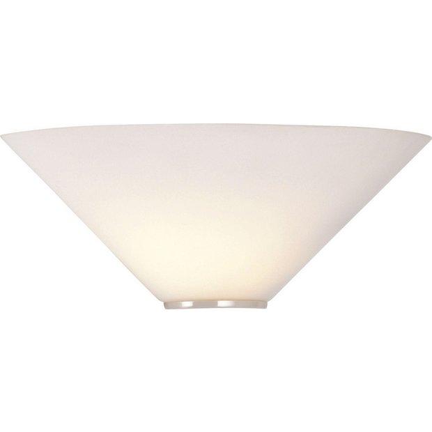 Ceiling Lights At Argos : Buy home mozart glass uplighter wall light at argos