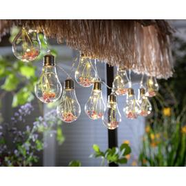 Habitat 10 Warm White Flower Bulb Solar String Lights