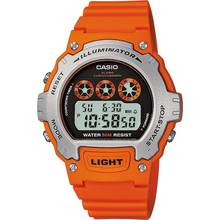 Casio Men's Orange Illuminator LCD Watch