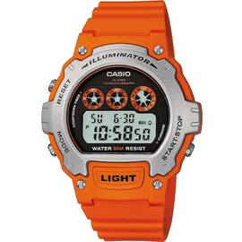 Casio Men's Illuminator LCD Orange Resin Strap Watch