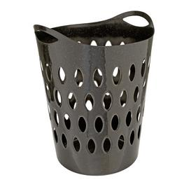 Argos Home Flexible Glitter Laundry Basket - Black