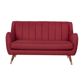 Argos Home Leila 2 Seater Fabric Sofa - Red