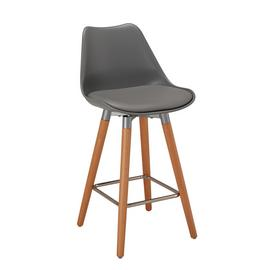 Argos Home Charlie Upholstered Bar Stool - Grey