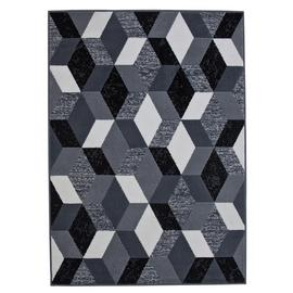 Argos Home Geo Rug - 120x160cm - Black and White