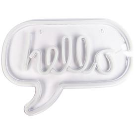 Fizz Creations Neon Hello Light - White