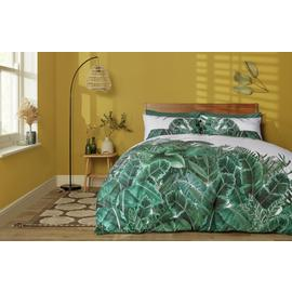 Habitat Jungle Leaf Reversible Bedding Set