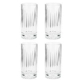 Habitat Set of 4 Pressed Hi Ball Glasses