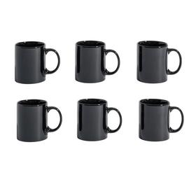 Argos Home Set of 6 Mugs - Black