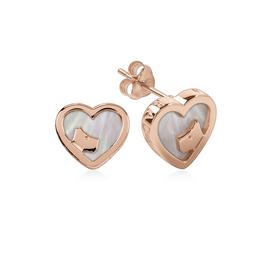 Radley Heart Pearl 18ct Rose Gold Earrings