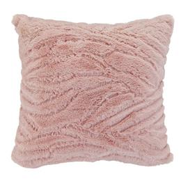 Argos Home Faux Fur Cushion - Blush Pink