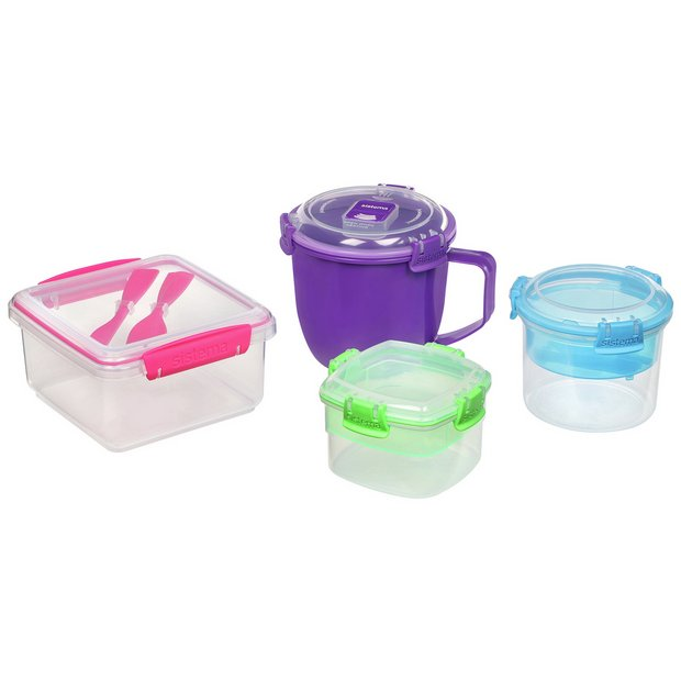 Buy Sistema On The Go Food Storage Set 4 Pack Food Storage Argos