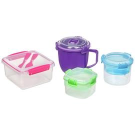 Sistema On the Go Food Storage Set - 4 Pack