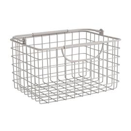 Argos Home Wire Storage Basket - Matte Grey