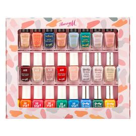 Barry M Cosmetics 10ml Nail Paint Gift Set x30