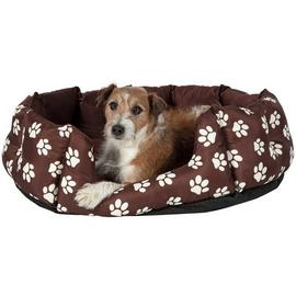 Paw Print Oval Pet Bed - Large