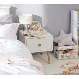Argos Home Bodie 1 Drawer Bedside Table - White