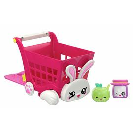Kindi Kids Rabbit Petkin Shopping Cart and Shopkins