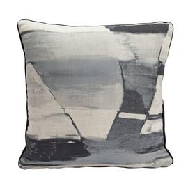 Argos Home Kanso Painted Print Cushion - Grey