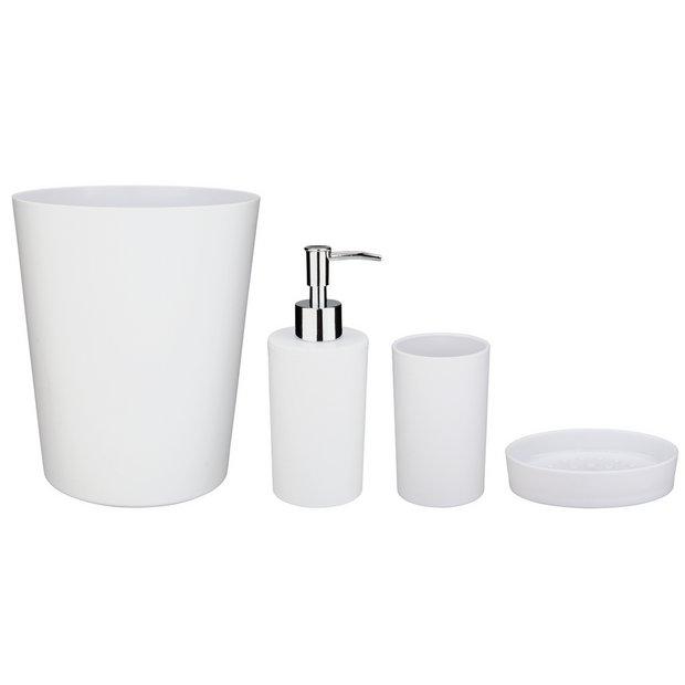 Buy Argos Home 4 Piece Bathroom Accessory Set White Bathroom Accessory Sets Argos