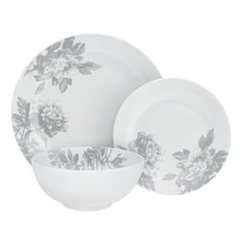 Argos Home Floral 12 Piece Dinner Set - Grey