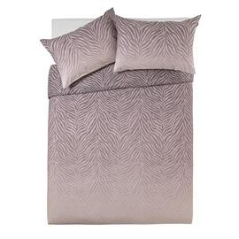 Argos Home Blush Zebra Ombre Bedding Set - Kingsize