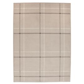 Argos Home Brancaster Check Rug - 160x120cm - Natural