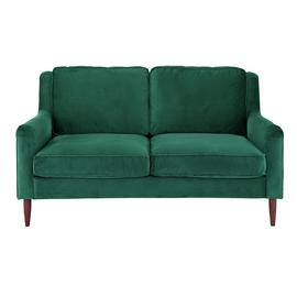 Argos Home Jacob 2 Seater Velvet Sofa - Green
