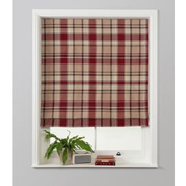 Julian Charles Checked Roman Blind - Red