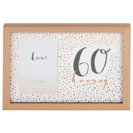 Hotchpotch Luxe 60th Birthday Photo Frame - Rose Gold