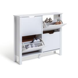 Habitat Compton 4 Shelf Shoe Storage Cabinet - White