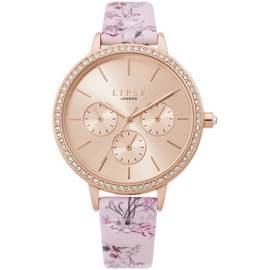 Lipsy Rose Gold Coloured Faux Leather Strap Watch