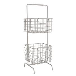 Argos Home 2 Tier Wire Storage Basket - Matte Grey