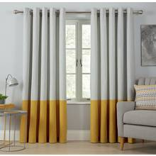 Argos Home Printed Border Unlined Eyelet Curtains