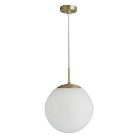 Habitat Boyd Glass & Metal Pendant Light - Brass