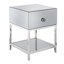 Argos Home Bianco Smoked Mirror Side Table