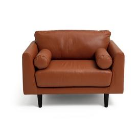 Argos Home Jackson Leather Cuddle Chair - Tan