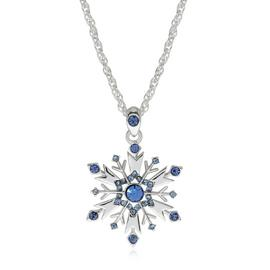 Disney Frozen Silver Coloured Crystal Snowflake Pendant