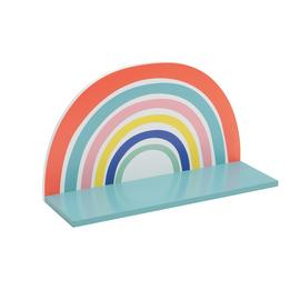 Habitat MDF Rainbow Wall Shelf - Multicoloured