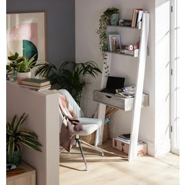 Argos Home Ladder Office Desk - Concrete Effect