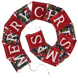 Argos Home Berry Christmas Text Merry Christmas Garland