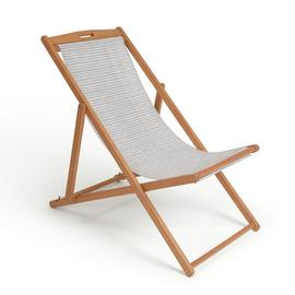 Habitat Wooden Deck Chair - Stripe