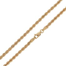 Revere 9ct Yellow Gold Hollow Rope 18 Inch Chain