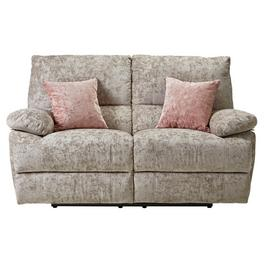 Argos Home Carmilla 2 Seater Fabric Recliner Sofa - Silver