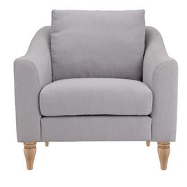 Argos Home Cameron Fabric Cuddle Chair - Light Grey