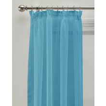HOME Unlined Voile Panels - 152x228cm - Aqua