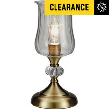 Collection Hurricane Touch Table Lamp - Antique Brass