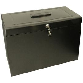 Cathedral Foolscap Metal Box File - Black